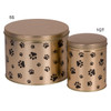 1qt & 5s Paw Prints Tall Round Tin Container