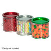 Clear Plastic Mini Pail Group Filled