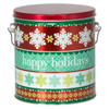 Holiday Cheer Tall Round Tin Container