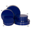 Blue Cookie Tin Container Grp