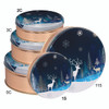 Crystal Evening Cookie Tin Container Group
