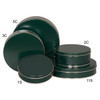 Green Cookie Tin Container Grp