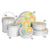 Flower Power Cookie Tin Container Group