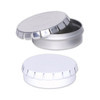 Platinum or White Round Clic-Clac Tin Container