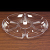 Round 7 Section Clear Plastic Tray