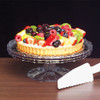 Round Plastic Crystal Cut Tiered Cake Plate