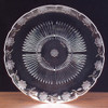 Round Plastic Floral Crystal Cut Tray