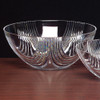 Round Plastic Crystal Cut Salad Bowl