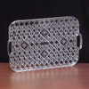 Rectangle Plastic Crystal Cut Tray with Handles