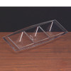 Rectangle 3 Compartment Clear Plastic Tray
