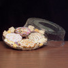 Round Plastic Starburst Crystal Cut Tray with Dome