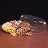 Round Plastic Compartmented Starburst Crystal Cut Tray