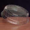 Round Plastic Compartmented Starburst Crystal Cut Tray Dome