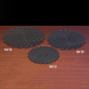 Black Plastic Scalloped Tray Group