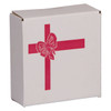 Round Tin Container Shipping Boxes with Red Bow