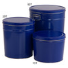 Solid Blue Popcorn Tin Container Grp