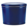Solid Blue Popcorn Tin Container