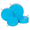 Bright Blue Cookie Tin Container Group