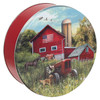 Farmer's Field Round Tin Container