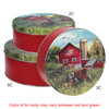 Farmer's Field Round Tin Container Group