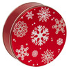 Red with Snowflakes Cookie Tin Container