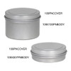 "1 9/16"" x 7/16"" and 1 9/16"" x 1"" Seamless Tin Container Platinum Silver"