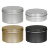 "3 1/8"" x 1"" & 3 1/8"" x 1 15/16"" Seamless tin Container Platinum Silver Gold Black"