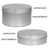 "4"" Seamless Platinum Tin Container Group"