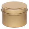 "2 1/16"" X 1 3/8"" Seamless Tin in Color Gold"