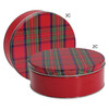 Tartan Plaid Cookie Tin Container Group