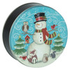 Forest Snowman Cookie Tin Container