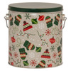 Bundled Up Tall Round Tin Container