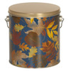 Falling Leaves Tall Round Tin Container