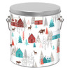 Walk in the Woods Tall Round Tin Container