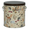 Woodland Creatures Tall Round Tin Container