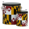 Maryland Flag Tall Round Tin Container Group