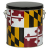 Maryland Flag Tall Round Tin Container