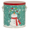 Cheery Snowman Tall Round Tin Container