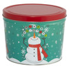 Cheery Snowman Popcorn Tin Container