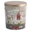 Cozy Christmas Popcorn Tin Container