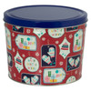 Gift Tags Popcorn Tin Container Group