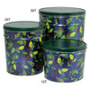 Holly & Pine Popcorn Tin Container Group