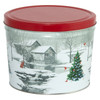Snow Covered Mill Popcorn Tin Container