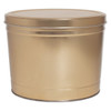 Gold Solid Popcorn Tin Container