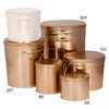 Gold Solid Popcorn Tin Container Group