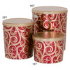 Golden Swirls Popcorn Tin Container Group