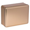 Gold Solid Rectangle Tin Container