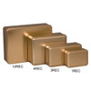 Gold Solid Rectangle Tin Container Group