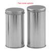 211 x 501 Platinum Tall Round Tin Container Collection