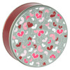 Fluttering Hearts Cookie Tin Container